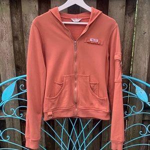 HardTail Zip Front Hooded Sweatshirt Jacket